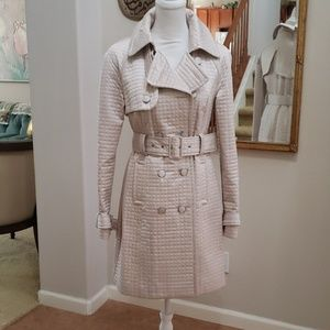 BEBE quilted trench coat